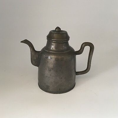 Antique 19 C Chinese Paktong Pewter Teapot Marked