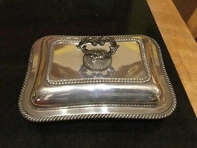 Vintage Silver Plated Covered Serving Dish