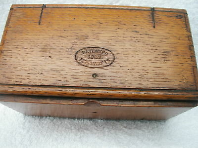 Antique Singer Sewing Machine Wooden Folding Box  / Attachments