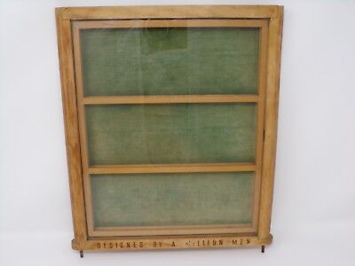 Antique Designed by a Million Men display case wood glass vintage 207