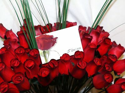 Wholesale Valentines Flowers 24 Romantic Red Wooden Roses Mixed Box Gift Grasses