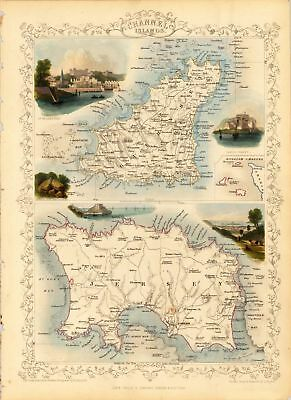 A4 Reprint of Old Maps Old Channel Island Map Reprint