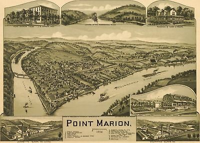 A4 Reprint of Old Maps 1902 Point Marion
