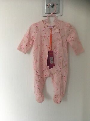 BNWT NEW Baby Girls Ted Baker Pink Floral Sleepsuit Newborn Blossom
