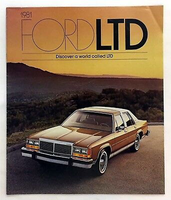 Car Auto Brochure 1981 Ford Ltd 16 Pages
