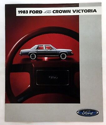 Car Auto Brochure 1983 Ford Crown Victoria 12 Pages