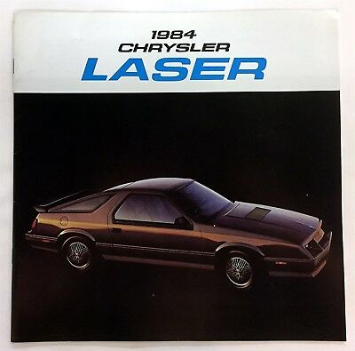 Car Auto Brochure 1984 Chrysler Laser 16 Pages