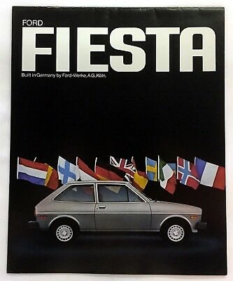 Car Auto Brochure Ford Fiesta German Built 16 Pages
