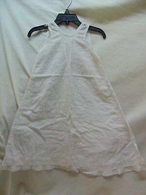 **Vintage & Handmade** Baby Girl Size?? Textured White Slip or Gown