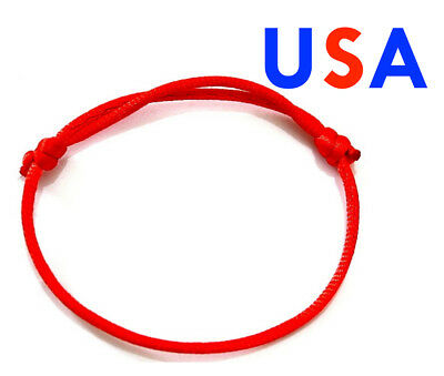 1X One Red Lucky Bracelet Kabbalah Evil Eye Jewelry String Adjustable