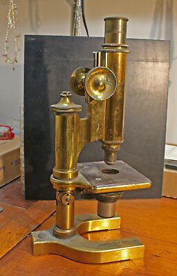 VTG Antique Bausch & Lomb Rochester NY Brass Microscope, serial # 16301, 1894