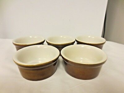Lot 5 H F Coors USA Brown & White Small Sauce or Dip Bowls #152