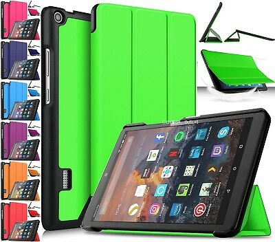 Stand Case Cover Magnetic Leather Smart For Amazon Kindle Fire HD 8 2018 8th Gen