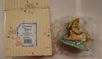 """Lot 11-112 * Cherished Teddies 103810 """"Gathering the Blooms of Friendship""""  w/Bx"""