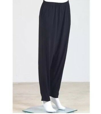 Planet by Laura G. Slim Matte Jersey Black Jogger Tapered Dress Pants Sz. 1