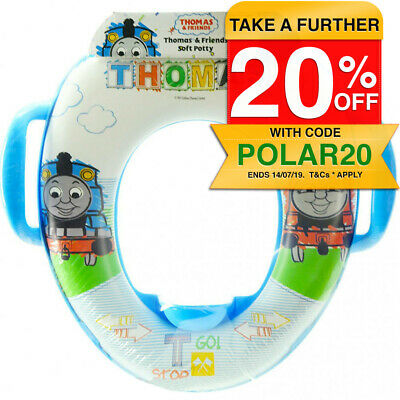 Thomas & Friends Soft Padded Potty Seat f/ Toilet Training Toddler/Kids 2y+