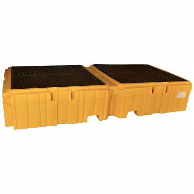 UltraTech 1144 Ultra-Twin IBC Spill Pallet with Drain, Lot of 1