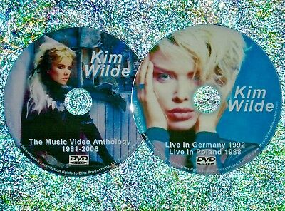 Button & FREE Kim Wilde Music Video Collection & Live Concerts 1981-2006 2 DVD s