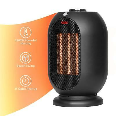 Small Space Heater for Office, 1200W/700W Electric Heater for Home, Ceramic Heat