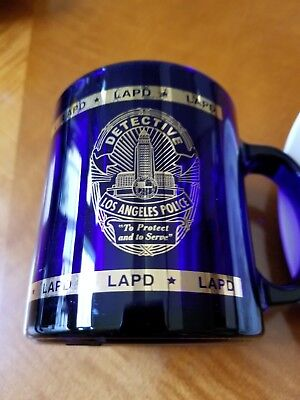LAPD Police Detective Coffee Mug  Cobalt Blue with Gold lettering Los Angeles