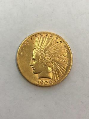 Uncertified 1909-S $10 Indian Head Gold Coin.!! NR.!!
