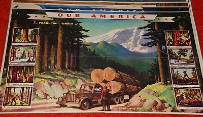 Eight 1942 & 1943  Coca Cola Posters  Our America   Oil , Wood, & Cotton