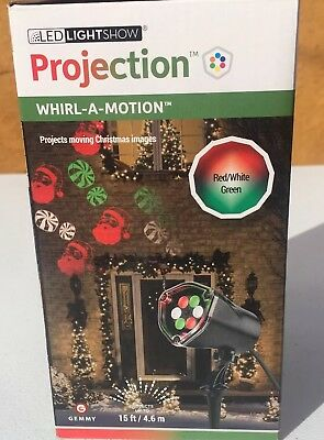 Reindeer Lightshow Projection Whirl-A-Motion LED Lights Christmas House Decor