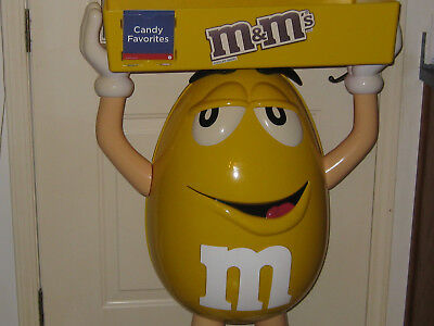 Giant Yellow M&m Store Display With Tray - Almost 4Ft. Tall!!!!