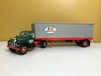 First Gear 1:34Th Scale 1960 B-61 Mack Tractor Trailer R-C Motor Lines 19-1156