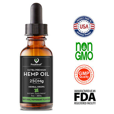 #1 Organic Hemp Oil for Pain Relief  Anti-Anxiety & Stress Support Hemp Oil