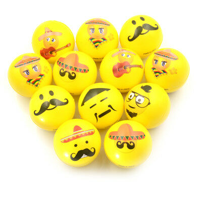 PU Ball Bulk Lot Hand Stress Relief Squeeze Foam Ball Funny Face Toys wholesale—