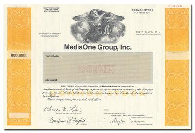 MediaOne Group, Inc. Specimen Stock Certificate (US WEST, Comcast, AT&T)