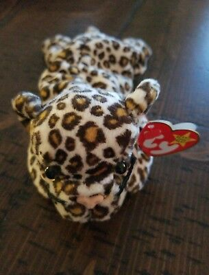 Freckles TY Beanie Baby--DOB: June 3, 1996 with Swing/Hang and Tush Tags!