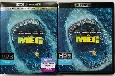 The Meg 4K Ultra Hd Blu Ray 2 Disc Set + Slipcover Sleeve Free World Wide Shipin