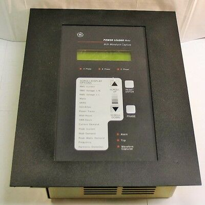GE Power Leader Meter Cat No TM1G04 with Waveform Capture - New in box