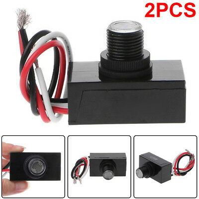 2pack Outdoor Electric Resistor Photocell Light Control Sensor Switch JL-103A US