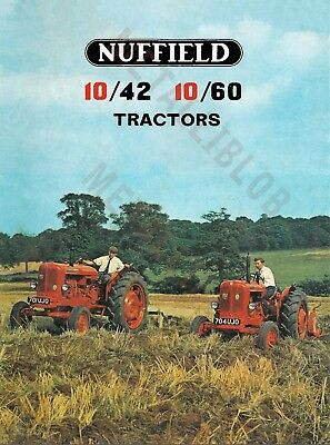 Nuffield 10/42 & 10/60 Tractor - Poster A3