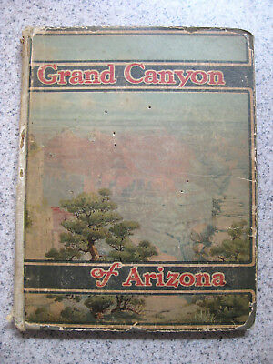 Antique Santa Fe Railroad Book Grand Canyon Of Arizona 1909