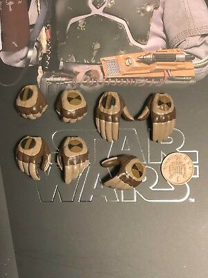 Hot Toys Star Wars ESB Boba Fett DELUXE MMS464 Hands x 7 Set 2 loose 1/6th scale