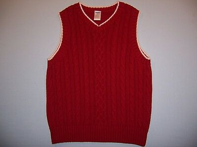 "Gymboree boys ""HOLIDAY PICTURES"" sz 8... SWEATER VEST...RED CABLE...EUC"