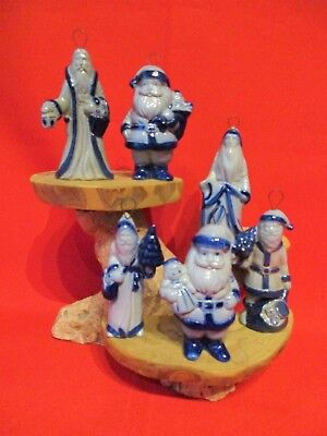 Lot of 6~ Eldreth Pottery Salt Glazed Christmas Ornaments~Excellent!