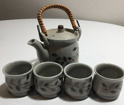 VTG Otagiri Japanese Ceramic Tea Set Teapot (4) Teacups EXCELLENT