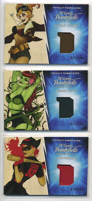 2018 DC Bombshells II Totally Fabricated 3 Card Set 100 Convention Exclusive a