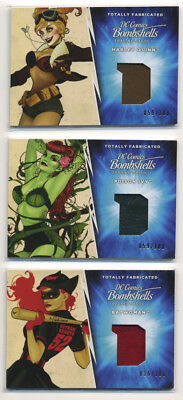 2018 DC Bombshells II Totally Fabricated 3 Card Set 100 Convention Exclusive b