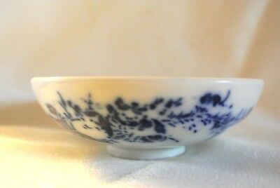 """Antique Asian Blue & White Porcelain Rice Soy Bowl ? 4"""" Floral with Butterflies"""