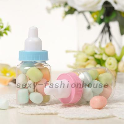 12/24 X Fillable Bottles Candy Box Baby Shower Baptism Party Christening NEW