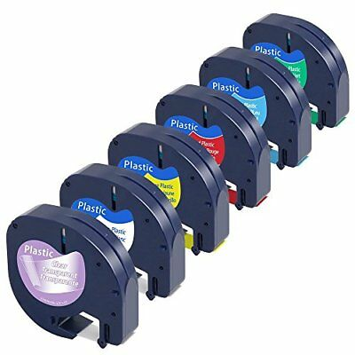 6-Pack Equivalent Dymo Letratag Color Refills 16952 91331 91332 91333 91334 W x