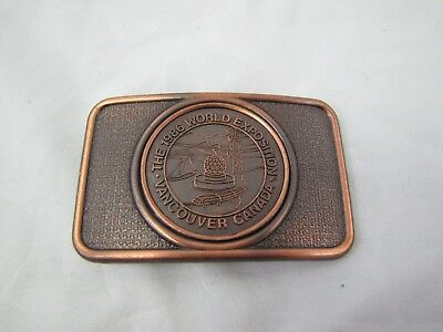 Vintage 1986 **the World Exposition - Vancouver, Canada** Buckle