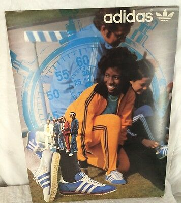 Vintage Adidas Shoes Store Display Advertisement Cardboard Poster Hip Hop B Boy