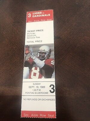 9/10/1989 Detroit Lions BARRY SANDERS NFL DEBUT/1st NFL GAME Replacement Ticket